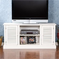 Southern Enterprisees Savannah Media Stand in Antique White