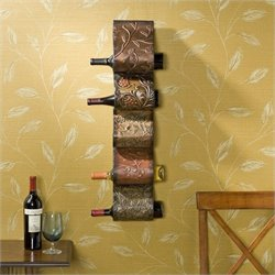 Southern Enterprises Salinas Wall Mount Wine Rack Sculpture