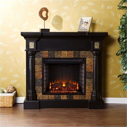Southern Enterprises Weatherford Convertible Electric Fireplace in Black