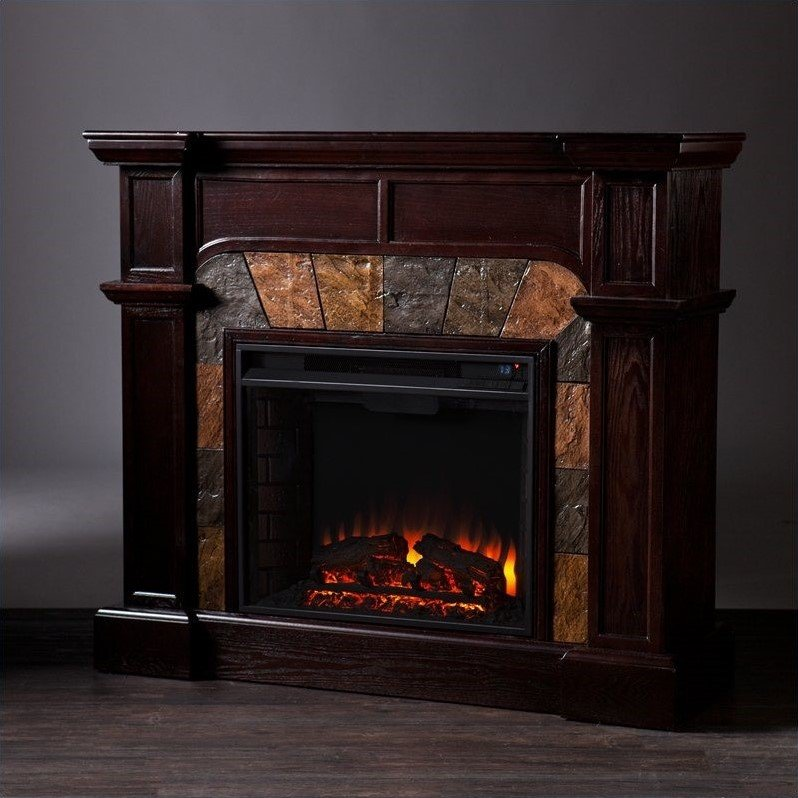 Southern Enterprises Cartwright Espresso Convertible Electric Fireplace Fe9287