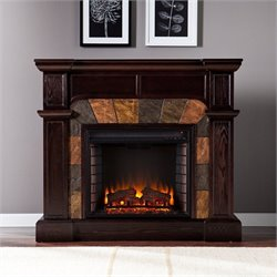 Southern Enterprises Cartwright Espresso Convertible Electric Fireplace