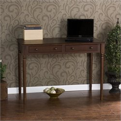 Southern Enterprises Parker 2-Drawer Writing Desk in Espresso