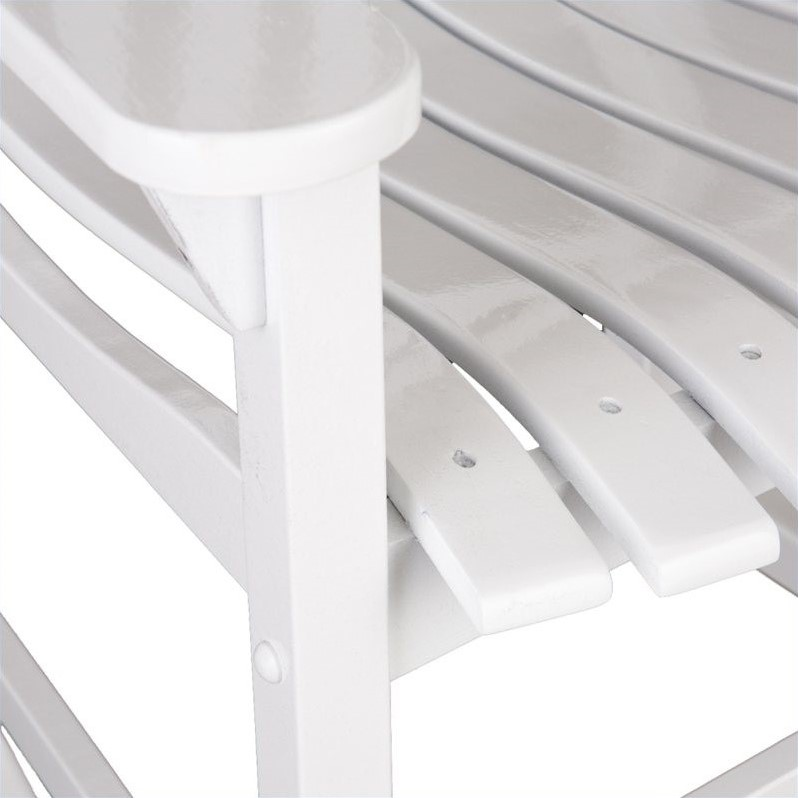 Southern Enterprises Porch Rocker in White