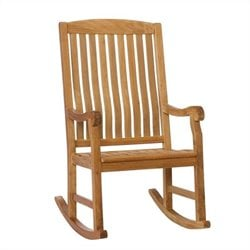 Southern Enterprises Porch Rocker in Natural
