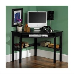 Southern Enterprises Alexander Corner Computer Desk in Painted Black