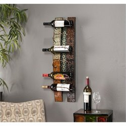Southern Enterprises Adriano Wall Mount Wine Storage in earth tones