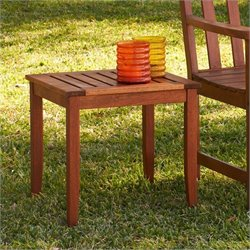 Southern Enterprises End Table in Dark Brown