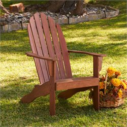 Southern Enterprises Adirondack Chair in Dark Brown