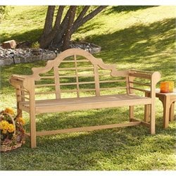 Southern Enterprises Lutyens Bench in Light Brown