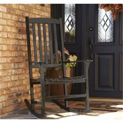 Southern Enterprises Porch Rocker in Painted Black
