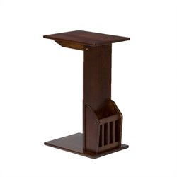 Southern Enterprises Upton Magazine Snack Table iin Espresso