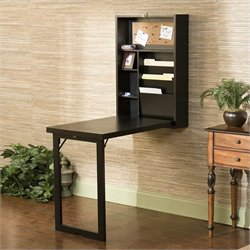 Southern Enterprises Leo Fold-Out Convertible Desk in Black