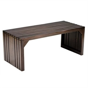 Southern Enterprises Slat Table in Rich Espresso Finish