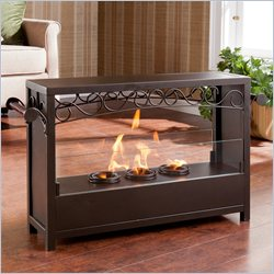 Southern Enterprises Ainslie Portable Indoor-Outdoor Fireplace