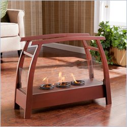 Southern Enterprises Kanto Portable Indoor-Outdoor Gel Fuel Fireplace