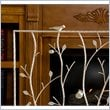 Bird and Branch French Vanilla Fireplace Screen