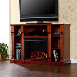 Southern Enterprises Kendall Electric Media Fireplace in Mahogany