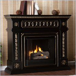 Southern Enterprises Donovan Gel Fuel Fireplace in Black Finish