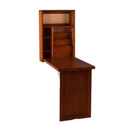 Southern Enterprises Leo Folding Desk in Walnut
