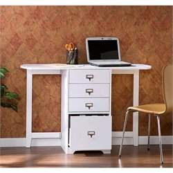 Southern Enterprises Paige White Fold-Out Organizer & Craft Desk