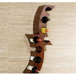 Southern Enterprises Avila Wall Mount Wine Rack in Rust