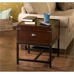 Southern Enterprises Yorkshire Storage End Table in Espresso