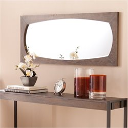 Southern Enterprises Whitsel Mirror in Burnt Oak
