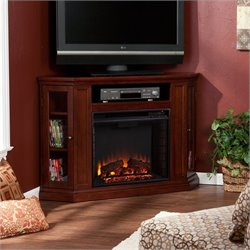 Southern Enterprises Ponoma Convertible Electric Fireplace Cherry