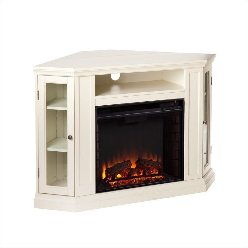 Southern Enterprises Ponoma Convertible Media Electric Fireplace Ivory Fe9314
