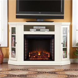 Southern Enterprises Ponoma Convertible Media Electric Fireplace Ivory