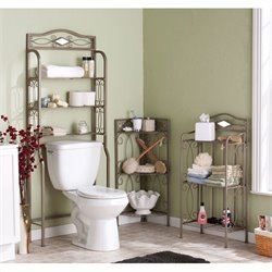 Southern Enterprise Isabella Bath Storage Collection in Pewter/Gun Metal