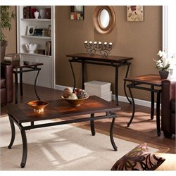 Southern Enterprises Surrey 4 Piece Table Collection in Rich Espresso
