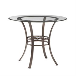 Southern Enterprises Lucianna Round Glass Top Dining Table