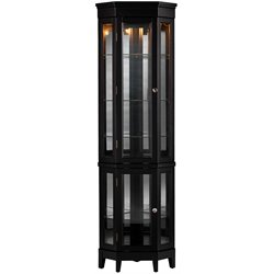 Southern Enterprises Essex Corner Curio in Black