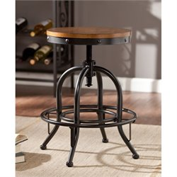 Southern Enterprises Industrial Adjustable Swivel Bar Stool