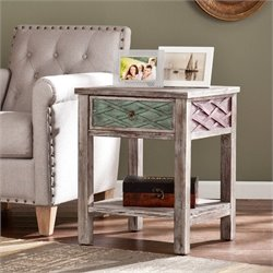 Southern Enterprises Dharma End Table in Multi