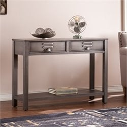 Southern Enterprises Radcliff Metal Console Table in Renovation Gray