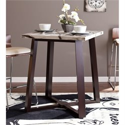 Southern Enterprises Lynford Counter Height Dining Table in Espresso