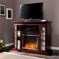 Southern Enterprises Yorklyn Fireplace TV Stand in Espresso