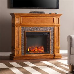 Belleview Media Fireplace in Sienna