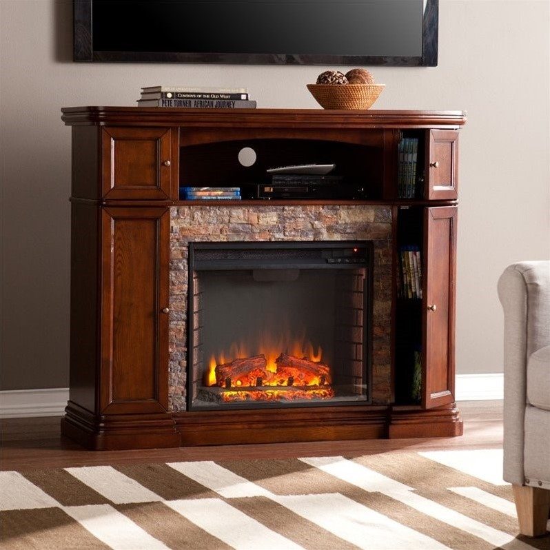 Southern Enterprises Hillcrest Electric Media Fireplace In Espresso Fe9356