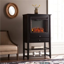 Southern Enterprises Vickery Electric Fireplace Tower in Black