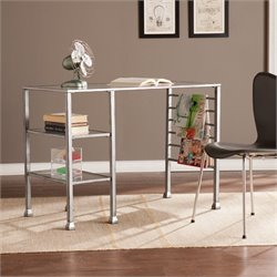 Metal-Glass Writing Desk