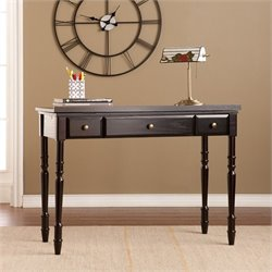 Southern Enterprises Rivendell Lift-Top Desk in Ebony and Bronze