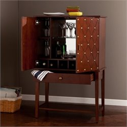 Southern Enterprises Dunston Home Bar Cabinet in Walnut