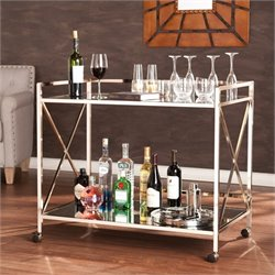 Southern Enterprises Maxton Bar Cart in Metallic Gold
