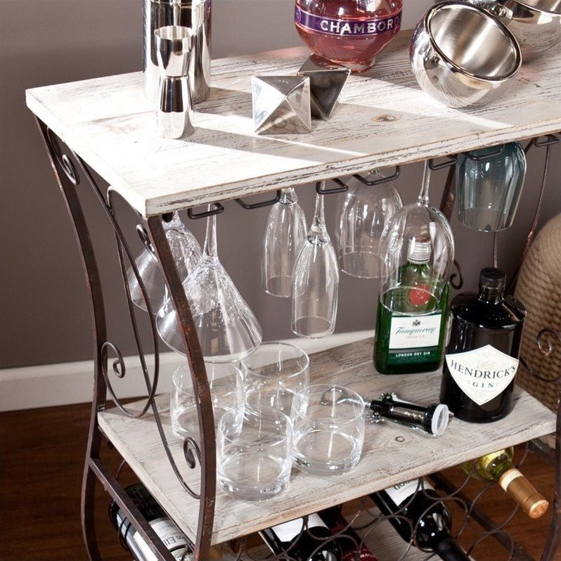 Wine storage table Iron Chinchilla Southern Enterprises Arcino Wine Storage Table In Gray And Rust Cymax Southern Enterprises Arcino Wine Storage Table In Gray And Rust Hz2054