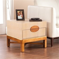 Southern Enterprises Libertine Accent Table Trunk in Aged Gold