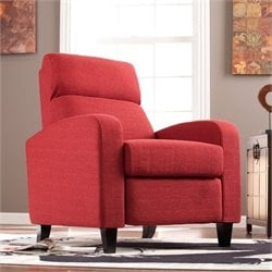 Southern Enterprises Grady Push Back Recliner in Cherry Red