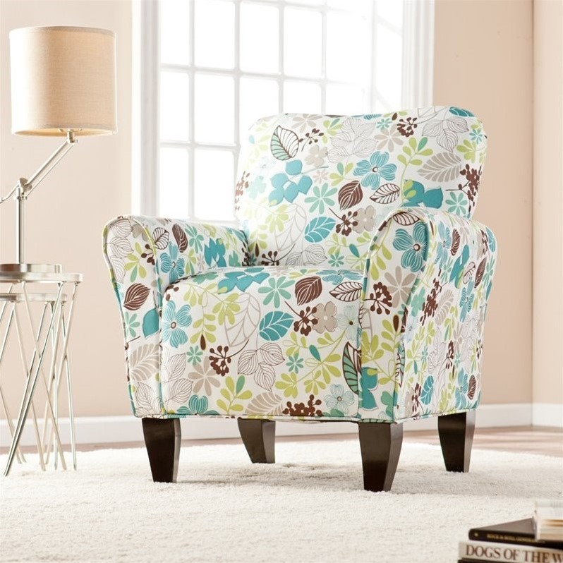 southern enterprises accent arm chair floral print chairs for living room ikea uk